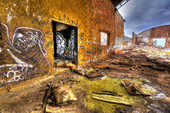 Old factory hall Stock Photo