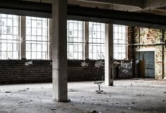 Old factory hall Royalty Free Stock Photography