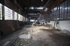 Old factory hall Stock Image