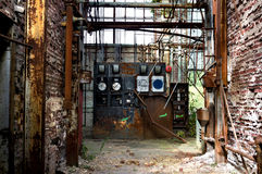 Old factory hallway Royalty Free Stock Image