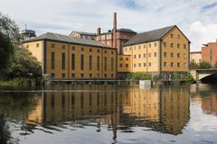 Old factory. Industrial landscape. Norrkoping. Sweden Stock Images