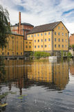 Old factory. Industrial landscape. Norrkoping. Sweden royalty free stock images