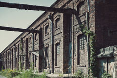 Old Factory Ironworks. Old factory, abandoned place in Poland, ironworks Stock Images