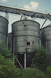 Old Factory Ironworks and Silos Stock Images