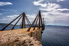 Old factory on Kimolos island, Cyclades Royalty Free Stock Photo