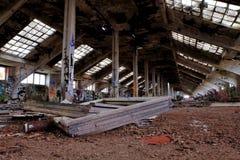 Old factory. Kolbenka in Prague - old hall Royalty Free Stock Photography