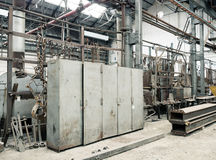 Old Factory Lockers Royalty Free Stock Photos