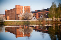 Old factory in Lodz Poland Royalty Free Stock Photo