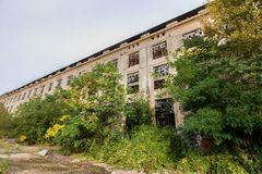 Old abandoned factory Kolben Daněk royalty free stock photography
