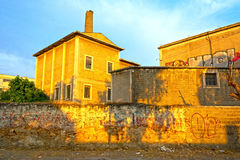 Old factory. Shot of an old factory, abandoned place in Athens - Greece Stock Images