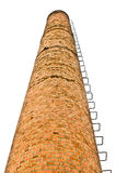Old factory smokestack. Old factory smokestack, made of bricks stock photography