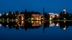 Old factory upgraded into an hotel in Finland city Stock Images
