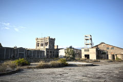 Old factory. View of a wrecked old factory Stock Photography