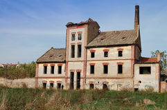 Old factory vinegars. Old factory in Zrenjanin vinegars now in ruins. Formerly known and famous throughout the Balkans, now through the transition of all Royalty Free Stock Images