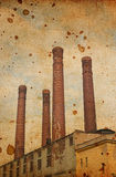 Old factory. Vintage background with stains stock images