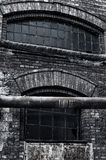 Old factory warehouse. Old factory, pipe in old factory abandoned place in Poland Stock Photography