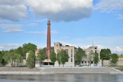 The old factory on the Waterfront of Naval glory Royalty Free Stock Photos