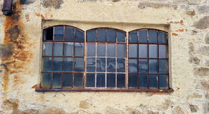 Old factory window Stock Image