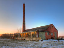 Old factory in winter Stock Image