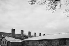 The Old Factory. Winter photo of the old factory Royalty Free Stock Photos