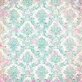 Old faded damaged ornament wallpaper Royalty Free Stock Photos