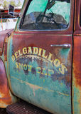 Old faded paintwork on truck Stock Photography