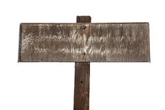 Old faded wooden sign isolated on white Stock Image