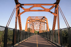 Old Fair Oaks Bridge Over Stock Photo