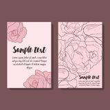 Set of two flyer with roses vector illustration