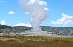 Old faithful bursting Royalty Free Stock Photography