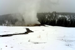 Old Faithful Geothermal geyser Yellowstone Wyoming Stock Image