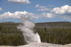 Old Faithful Geyser inYellowstone National Park USA Stock Photography