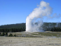 Old Faithful Geyser. Yellowstone National Park. Wyoming. stock photos