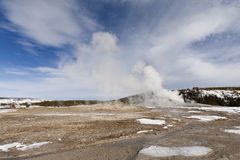 Old Faithful Geyser, Yellowstone NP Royalty Free Stock Photography