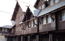 Old Faithful Inn. Front of Old Faithful Inn in Yellowstone National Park, Wyoming Royalty Free Stock Photo