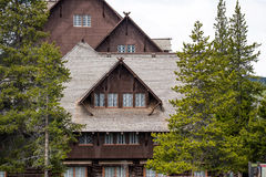 Old faithful inn and lodge - Yellowstone National Park stock images