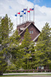 Old faithful inn and lodge - Yellowstone National Park royalty free stock images