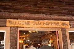 Old Faithful Inn stock photo