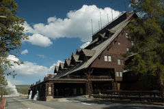 Old Faithful Lodge Royalty Free Stock Photography