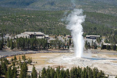 Old Faithful from Observation point Royalty Free Stock Images