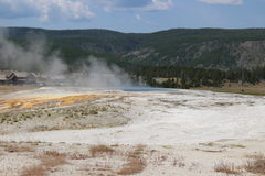 Old Faithful Park - Wyoming Stock Photo