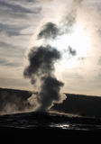 Old Faithful Silhouette Royalty Free Stock Images