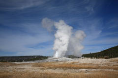 Old Faithful - Yellowstone National Park Stock Photo