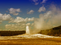 Old Faithful, Yellowstone National Park Stock Photography