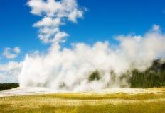 Old Faithful, Yellowstone National Park royalty free stock image
