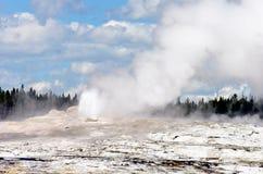 Old Faithful, Yellowstone National Park stock photos