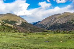 Old fall river road - rocky mountain national park colorado Royalty Free Stock Photos