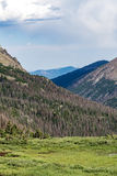 Old fall river road - rocky mountain national park colorado. Spring summer view from famous and historic old fall river road in the rocky mountain national park Stock Photography