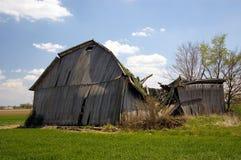 Old Fallen Barn. Ruins of an old fallen barn stock image