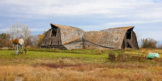 Old Fallen Down Barn Royalty Free Stock Photography